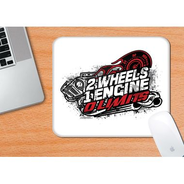 2 Wheels 1 Engine 0 Limits | Mouse Pad