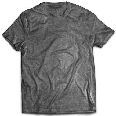 Classic Charcoal Melange Plain T-Shirt