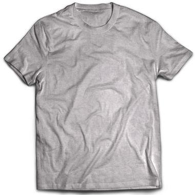 Classic Grey Melange Plain T-Shirt