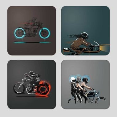 Moto Art 1   Coasters