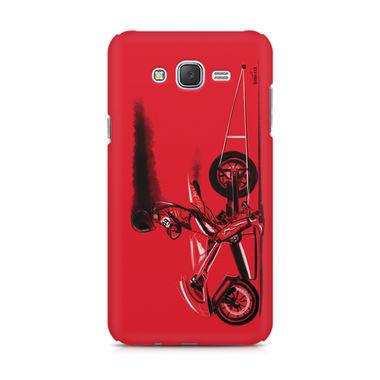 RED JET - Samsung J7 2016 Version   Mobile Cover