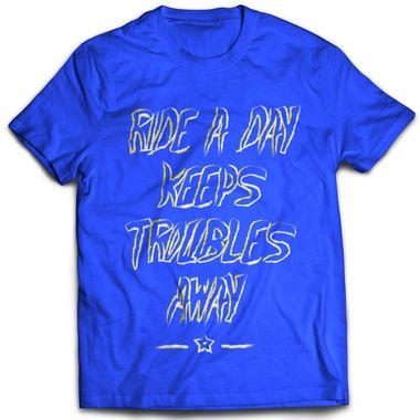 Ride a Day - Blue | Tshirt