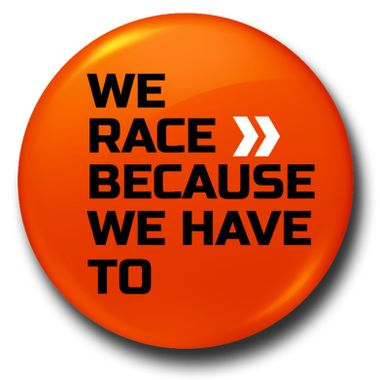 WE RACE >> | Badge