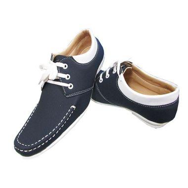Stylish Blue Apron Toe Lace Up Shoe