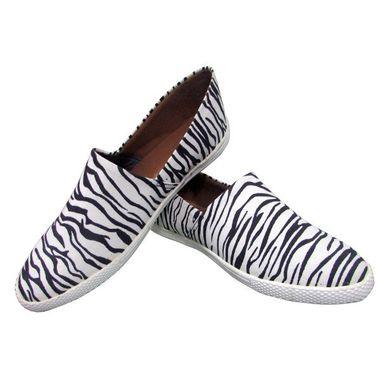 Zebra Loafer Shoes