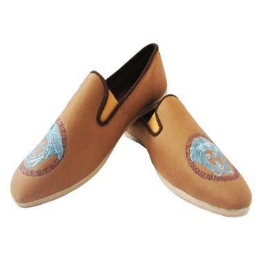 Tan Designer Loafer Shoes