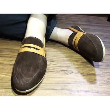 Brown Suede Stylish Loafers