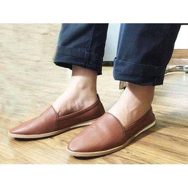 Choco Brown Leather Shoe