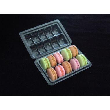 Macaron Box (10 cavities) - pack of 5pcs