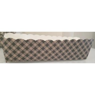 Long rectangle cup liners with brown stripes  (13pcs)