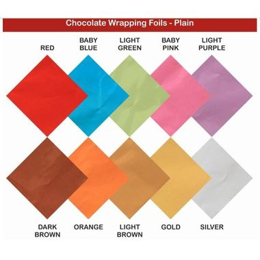 Chocolate Wrapping Paper (plain) (200 sheets per pack)