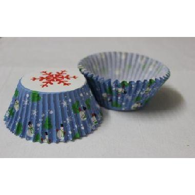 Snow man Blue cup cake liner (25 pcs)