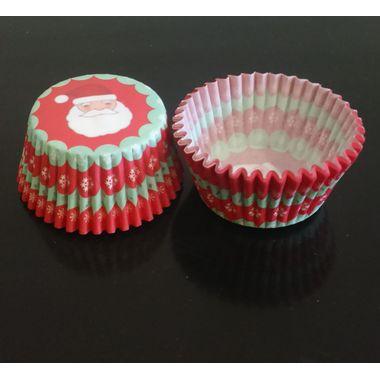 Santa Claus Red & Green cup cake liner (25 pcs)