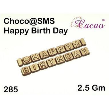 Happy Birthday 4-Chocolate Mould