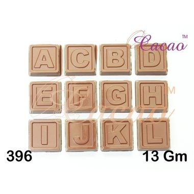 Alphabets & Numbers on square-Chocolate Moulds (Set of 3)