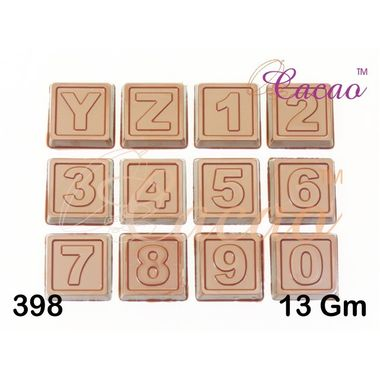Numbers on square-Chocolate Mould