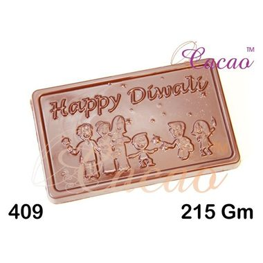 Happy diwali with human figures-Chocolate Mould