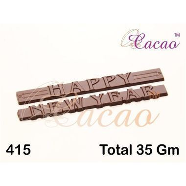Happy new year on thin bar-Chocolate Mould