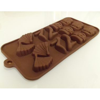 Girl's Accessories (3 designs) - Silicon Chocolate Mould