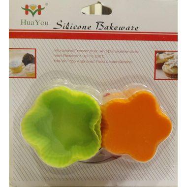 Flower shape muffin mould