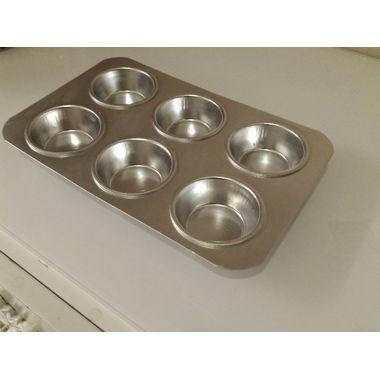 Aluminium Muffin Tray - 6 Cavities