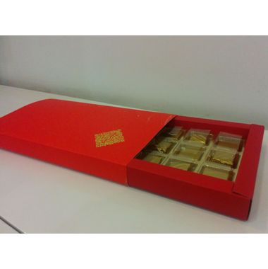 Orange Box (for chocolates) - 18 cavities