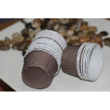 Plain Brown curl edge cupcake liners (pack of 14)