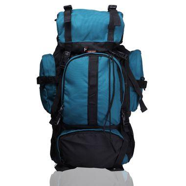 Neutron Black Aqua Blue  Trekking Backpack