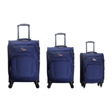 F Gear Cabinet Polyester Set of 3 Blue Soft sided Luggage set