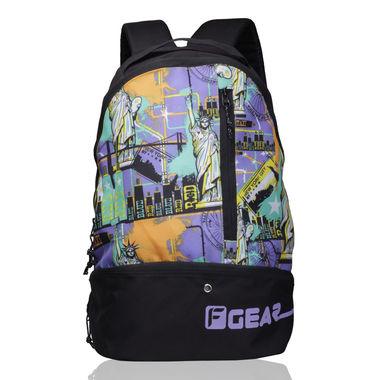 Shock 21.6 L Gym Backpack ( Printed Purple Green)