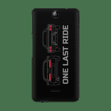 ONE LAST RIDE - Micromax Canvas Juice 3 Q392 | Mobile Cover