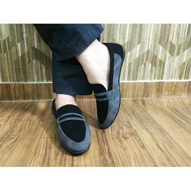 Grey Suede Formal Shoes