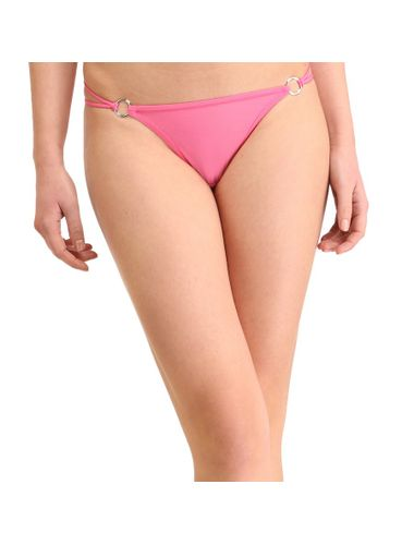 Solid Silver  Buckle  Thong , Color- Pink