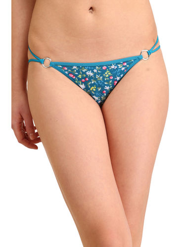 Turquoise Berries Stainless Thong