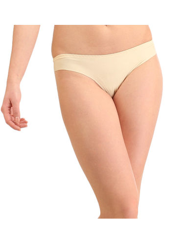 Laser Cut Seamless Thong, Color- Nude