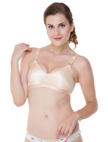 Nude Shimmering Shining PLUS Size  , NO SAGGING , T-shirt Bra