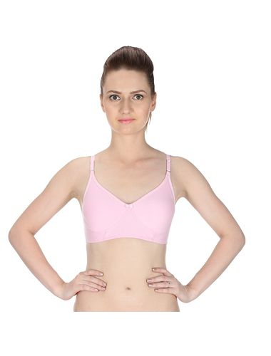 Glus Seamless Full Cup Non Wire / Suit Salwar Kameez /Saree Bra, Color-Pink