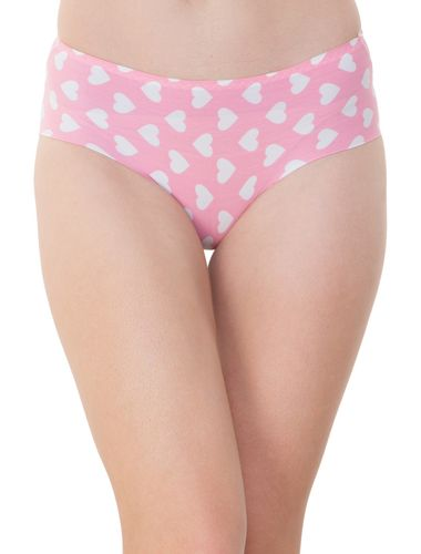 Pink Flying Heart LASER CUT Seamless Stainless Hipster, SEAMLESS,STAINLESS,PANTY