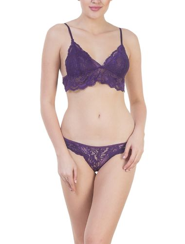 Glus Super SEXY ,SEDUCTIVE HONEYMOON Lingerie Set ,Color- Purple