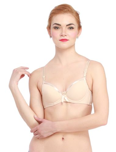Ladyfab Satin Edge Push Up Underwire Bra , Color  -   Nude Skin