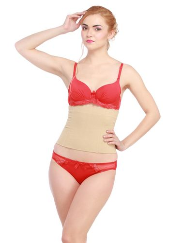 Glus Women Waist Shaping / Tummy Shaper Belt, Color- Nude