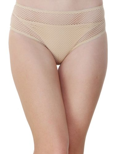 Glus Women's Hide And Seek Bridal Honeymoon Bikini Cut Panty, Color- Nude