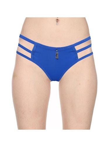 3 Stripes Soild Thong -Pure Comfort , Color- Blue