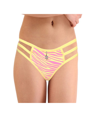 3 Stripes Thong -Pure Comfort , Color- Yellow