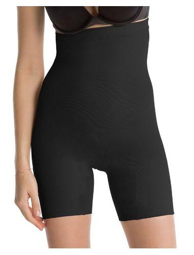 Glus Knee Length Pants With Waist Slimmer Shapewear , Color-  Black