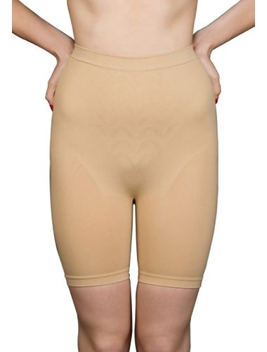 Glus Knee Length Pants With Waist Slimmer Shapewear , Color-  Nude