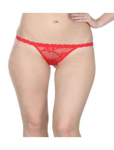 Hot Red Complete Net G-String