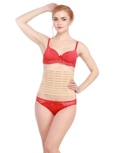 Glus  Waist Shaping Tummy  Front Open Belt, Color-Nude-skin