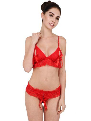 Glus sexy HoneyMoon Set , Color- Red