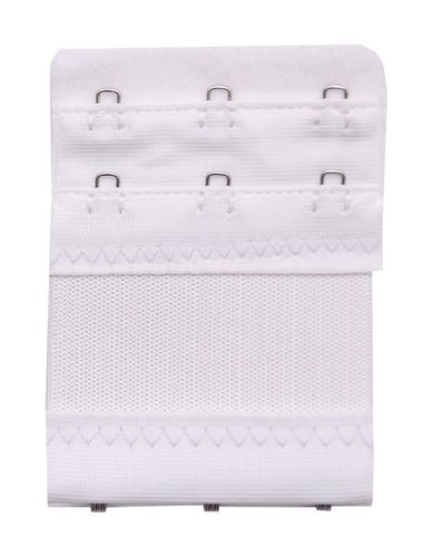 Glus Bra Extender-3-HOOK-2-EYE(With Elastic Band) - SAVE YOUR BRA Increase The Band Length EXTRA LONG, Color-White